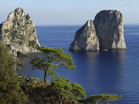 The Faraglioni Rocks of Capri