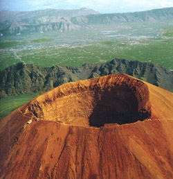 <b>Bird's eye view of Vesuvius</b>