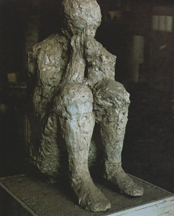 <b>Plaster cast of human beeing in Pompeii</b>