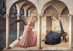 <b>Annunciation by Beato Angelico - San<br> Marco Museum</b>