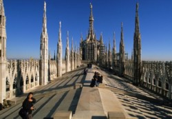Terrace of the Duomo of Milano