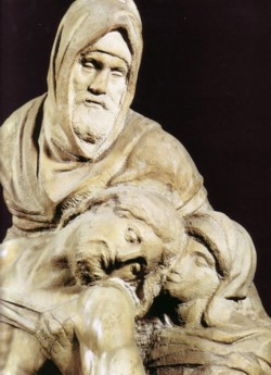 <b>Example of a sculpture by Michelangelo <br>in the Accademia Gallery</b>