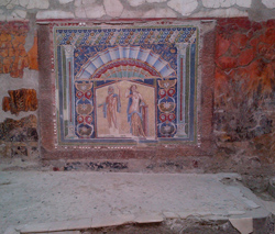 <b>Mosaic with Neptune and Amphitrite<br> in Herculaneum</b>