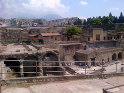 The view of the ancient Herculaneum