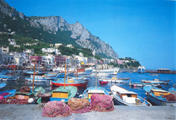 Capri  tour with TREDYTOURS: Marina Grande, the main port of Capri island