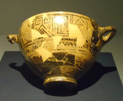<b>Nestor's Cup. kept now at Ischia</b>