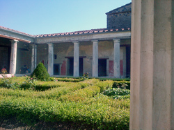 <b>The garden of the Menander's house in Pompeii</b>