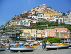 <b>Positano from the beach</b>