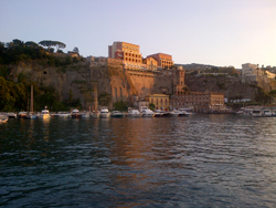 Sorrento and its coast of volcanic origin