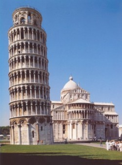 <b>Cathedral and Leaning Tower in Pisa</b>