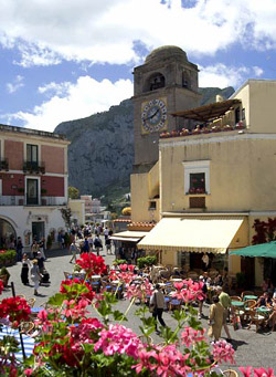 The main square of Capri