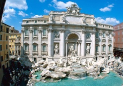 <b> The famous Trevi Fountain in Rome</b>