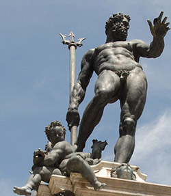 <b>The beautiful Fountain of Neptune by Giambologna</b>