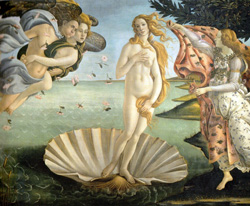 <b>Primavera by Botticelli at Uffizi Gallery</b>
