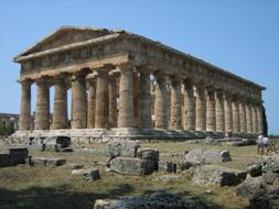 <b>The ancient temple of Neptune in Paestum </b>