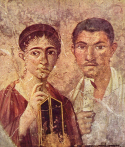 Fresco representing Paquio Proculo and his wife