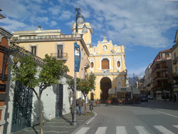 <b>Tasso Square and the church del Carmine at Sorrento</b>