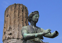 <b>Detail of the statue of Apollo in Pompeii</b>