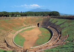 <b>View of the amphitheater of Pompeii</b>