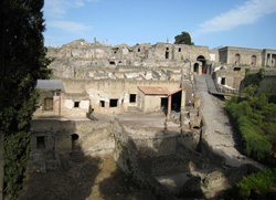 Porta Marina in the ruins of Pompeii