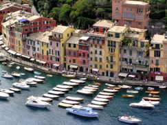 View of Portofino small harbour