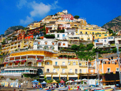 View of Positano from the beach