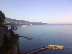 <b>Punta del Capo of Sorrento at  sunset</b>