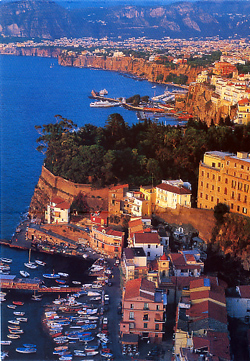 View of the Sorrento coast