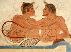 <b>Particular from the Diver's Tomb in the Paestum Museum</b>