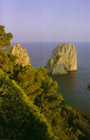 The symbols of the island of Capri the Faraglioni Rocks