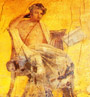 Fresco of the poet Menander - Pompeii