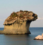 The Mushroom in tufa rock of volcanic origin at Lacco Ameno at Ischia