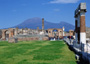  Vesuvius & Pompeii tour with TREDYTOURS: The Forum of Pompeii with Vesuvius in the background