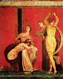 One of the frescos of the Dionysiac mysteries