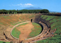  View of the amphitheater of Pompeii
