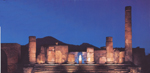 Ruins of Pompeii by night