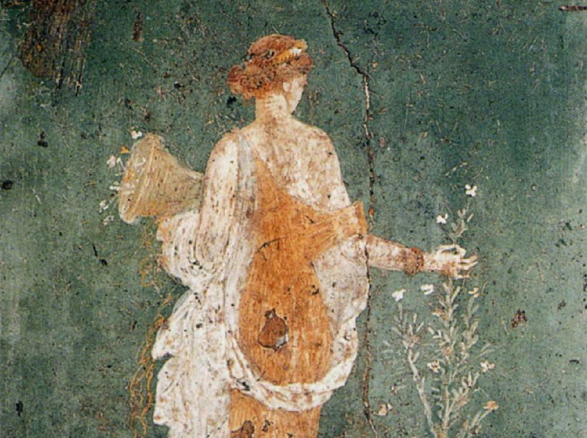 The fresco representing the Flora from the Ruins of Stabiae